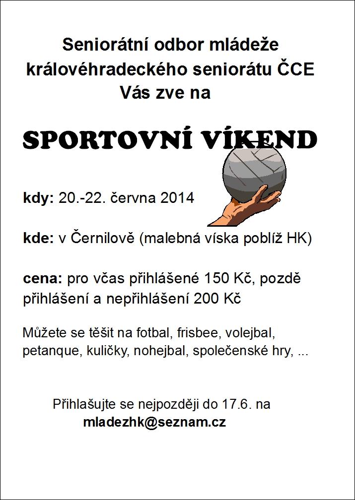 Sportovní víkend 2014 - plakátek