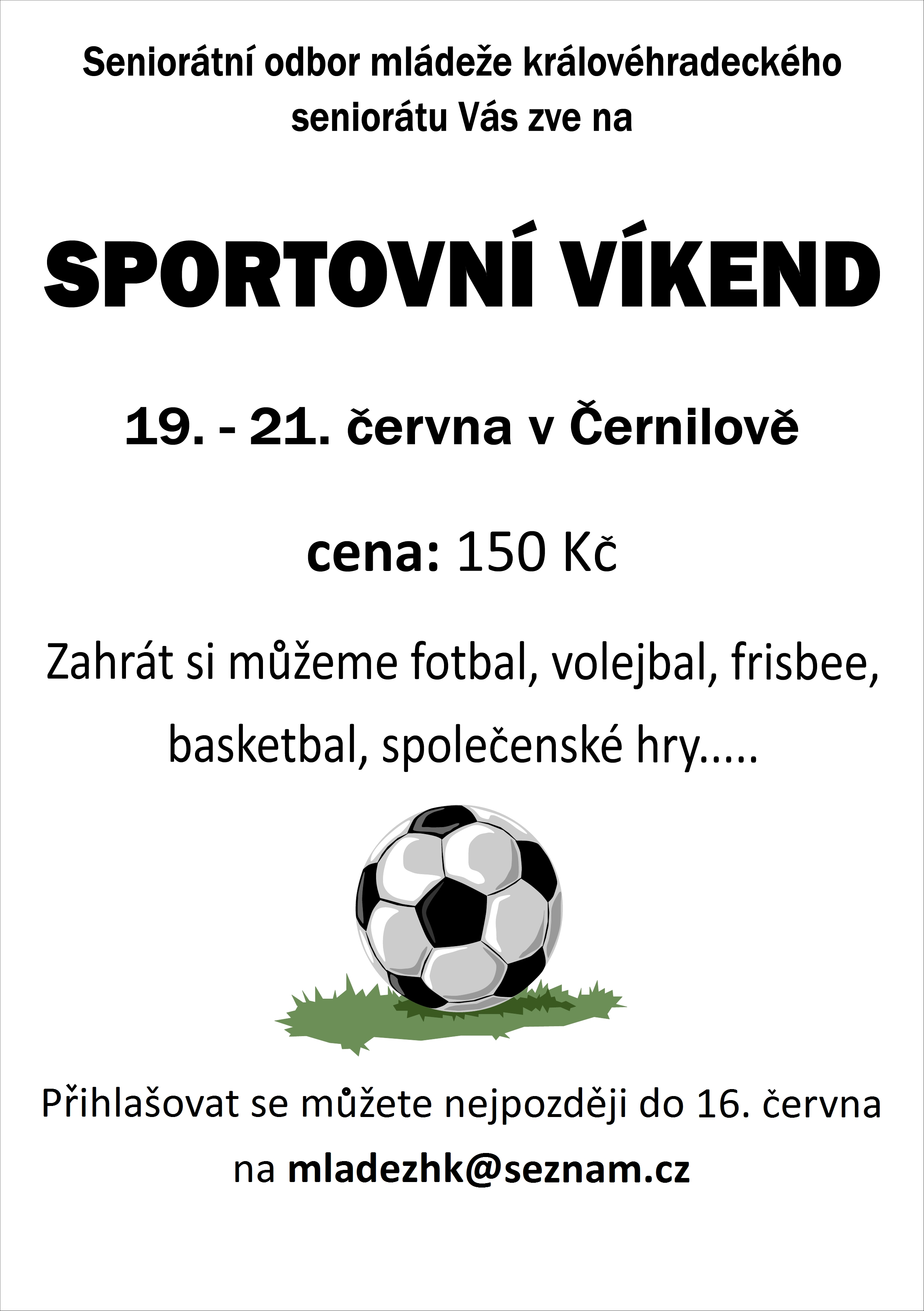 Sportovní víkend 2015 - plakátek